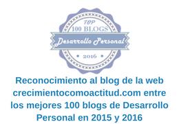 Reconocimiento al blog de Marian Gil entre los mejores 100 blogs de Desarrollo Personal en 2015 y 2016-3